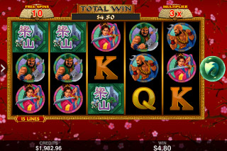 108 Heroes Mobile Slot Free Spins