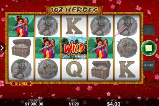 108 Heroes Mobile Slot Win
