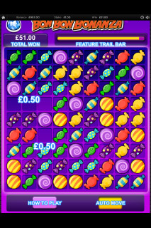 Bon Bon Bonanza Mobile Slot Feature Trail