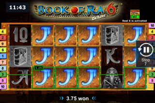 Book your wins in Book of Ra deluxe 6 slot at Casumo