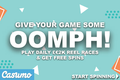 UK Casumo Advert, Free Spins & Reel Races