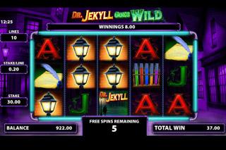 Dr Jekyll Goes Wild Mobile Slot Free Spins Bonus