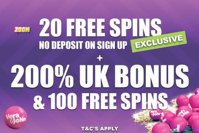 Get Your Free UK Casino Bonus + 200% + 100 Free Spins