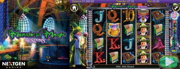 Nextgen Merlins Magic Respins Video Slot
