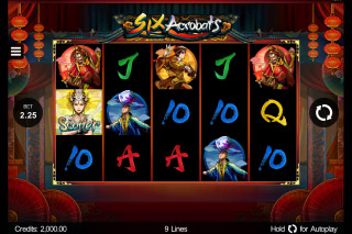 Six Acrobats Mobile Slot Game