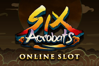Six Acrobats Mobile Slot Logo