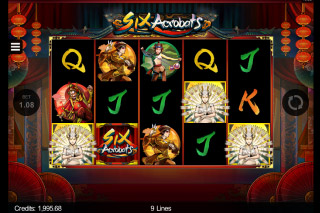 Six Acrobats Mobile Slot Scatters