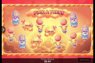 Sugar Parade Mobile Slot Bonus Game