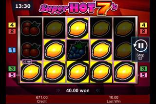 Super Hot 7s Mobile Slot Big Win