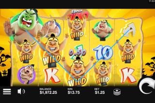 Super Sumo Mobile Slot Bonus Game
