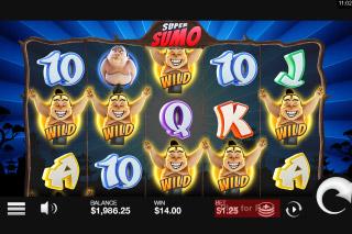 Super Sumo Mobile Slot Wilds Win