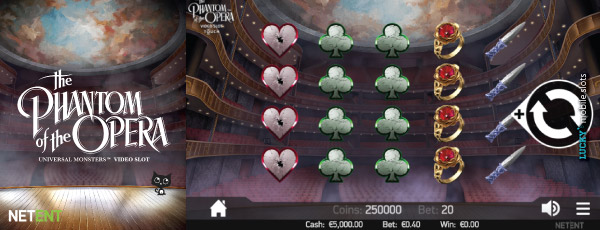 The Phantom Of The Opera Mobile Slot Game
