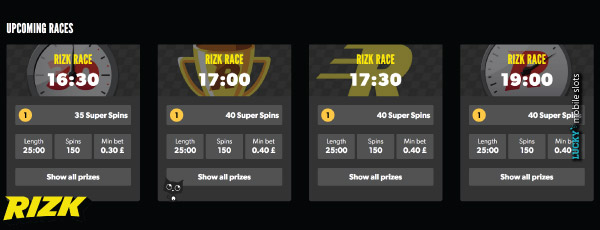 Look At The Upcoming Rizk Races Ahead of Time