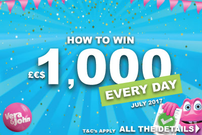 Win Real Cash Thanks To Vera&John In July 2017