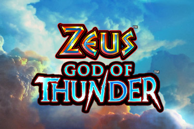 Zeus God of Thunder Mobile Slot Logo