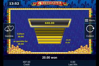 4 Reel Kings Mobile Slot Gamble Feature