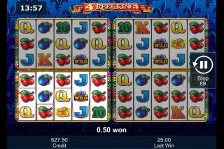 4 Reel Kings Mobile Slot Win
