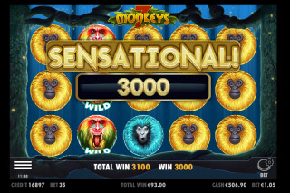 7 Monkeys Mobile Slot Free Spins Win