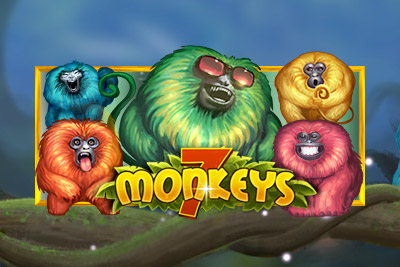 7 Monkeys Mobile Slot Logo