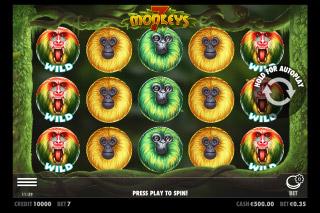 7 Monkeys Mobile Slot Machine