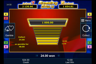 Amazing Stars Mobile Slot Gamble Feature