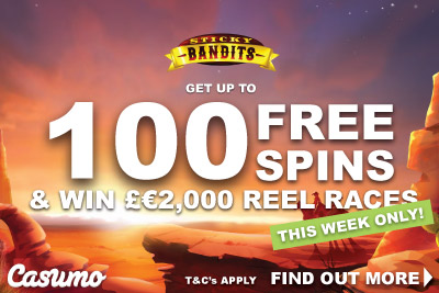 Get Casumo Free Spins On Sticky Bandits Slots & Win Cash