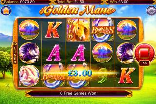 Golden Mane Slot Bonus Symbols