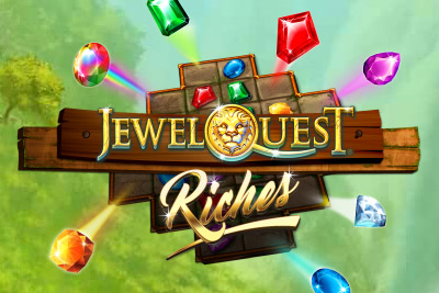 Jewel Quest Riches Mobile Slot Logo