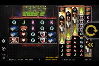 Kiss Mobile Slot Stacked Symbols