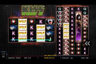 Kiss Mobile Slot Wilds