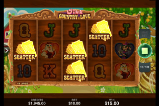 Oink Country Love Mobile Slot Bonus Scatters