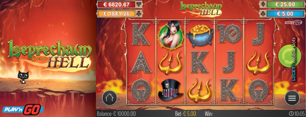 Play'n GO Mobile Slot Leprechaun Goes To Hell Main Game