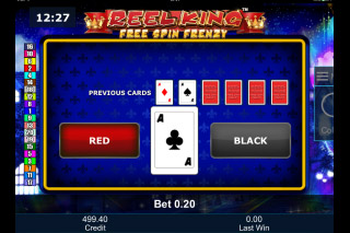 Reel King Free Spin Frenzy Gamble Feature