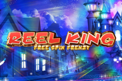 Reel King Free Spin Frenzy Mobile Slot Logo