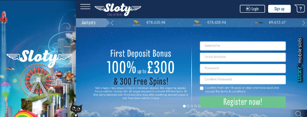 Sloty Casino Bonus With Free Spins On Mobile