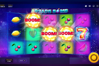 Arcade Bomb Mobile Slot Bonus Feature