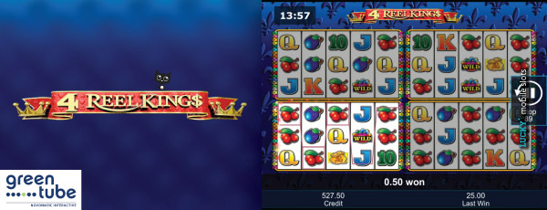 Greentube 4 Reel Kings Slot Machine On iPad