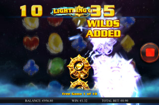 Lightning Gems Mobile Slot Free Spins With Wilds