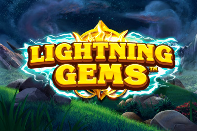Lightning Gems Mobile Slot Logo