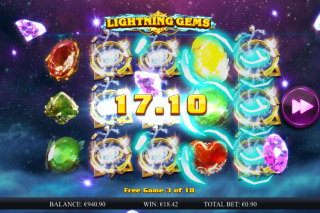Lightning Gems Mobile Slot Win