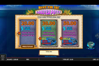 Reel em In Lobster Potty Mobile Slot Big Bet Options