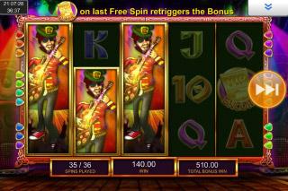 Shamrockers Slot Free Spins Stacked Symbols