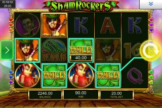 Shamrockers Mobile Slot Wilds