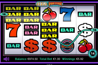 Triple Play Reels of Fortune Mobile Slot Bars