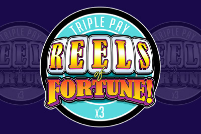 Triple Play Reels of Fortune Mobile Slot Logo