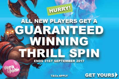 Get Your Guaranteed Free Spin Bonus Worth At Least £€2.50