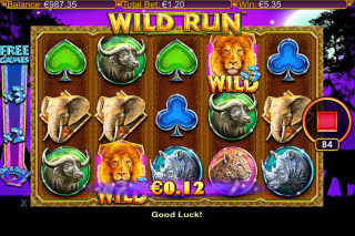 Wild Run Mobile Slot Free Spins Win