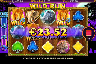 Wild Run Mobile Slot Free Spins On iPad