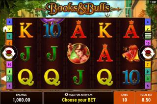 Books & Bulls Mobile Slot Machine