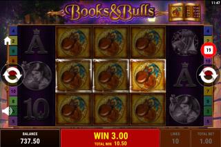 Books & Bulls Mobile Slot Free Spins